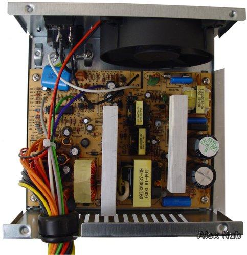 Изображение 13.  Блок питания EC ATX-300: вид изнутри.