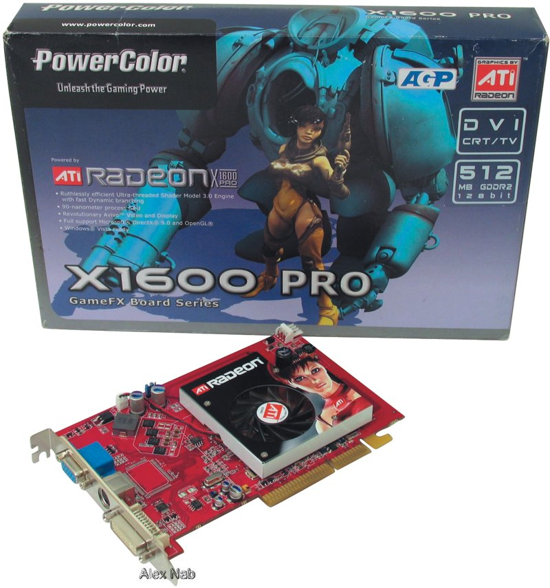 256mb pci-e ddr (ati radeon x1600pro) 128bit+dualdvi+tv out, вид снизу