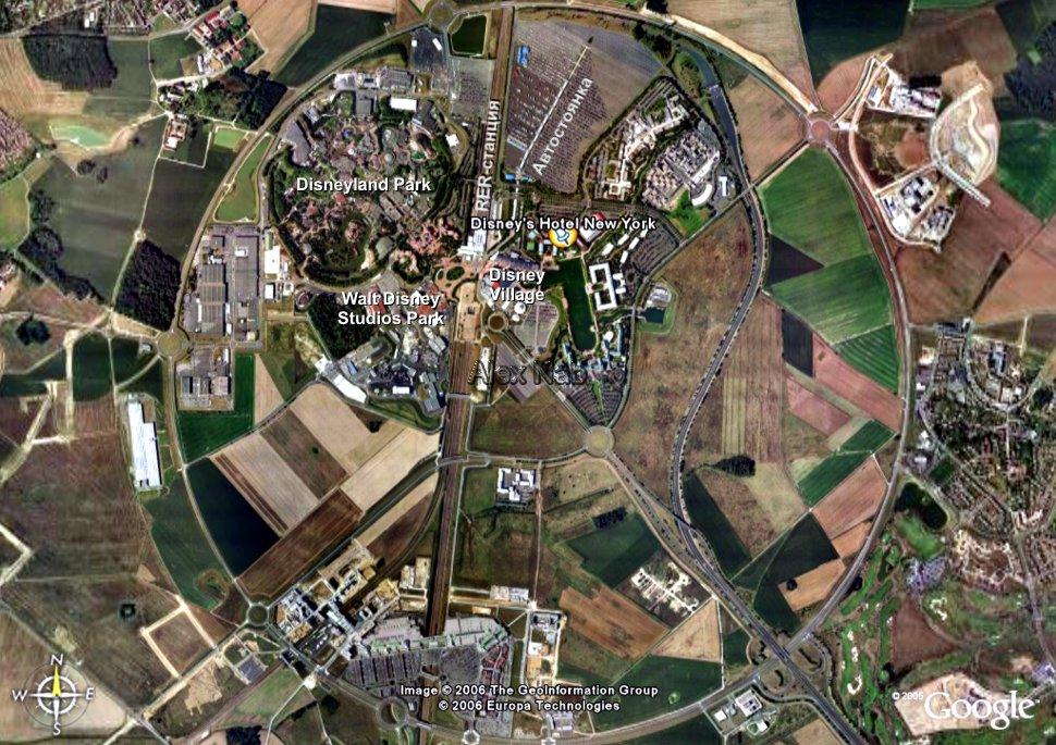 Парижский парк Диснейлэнд: вид